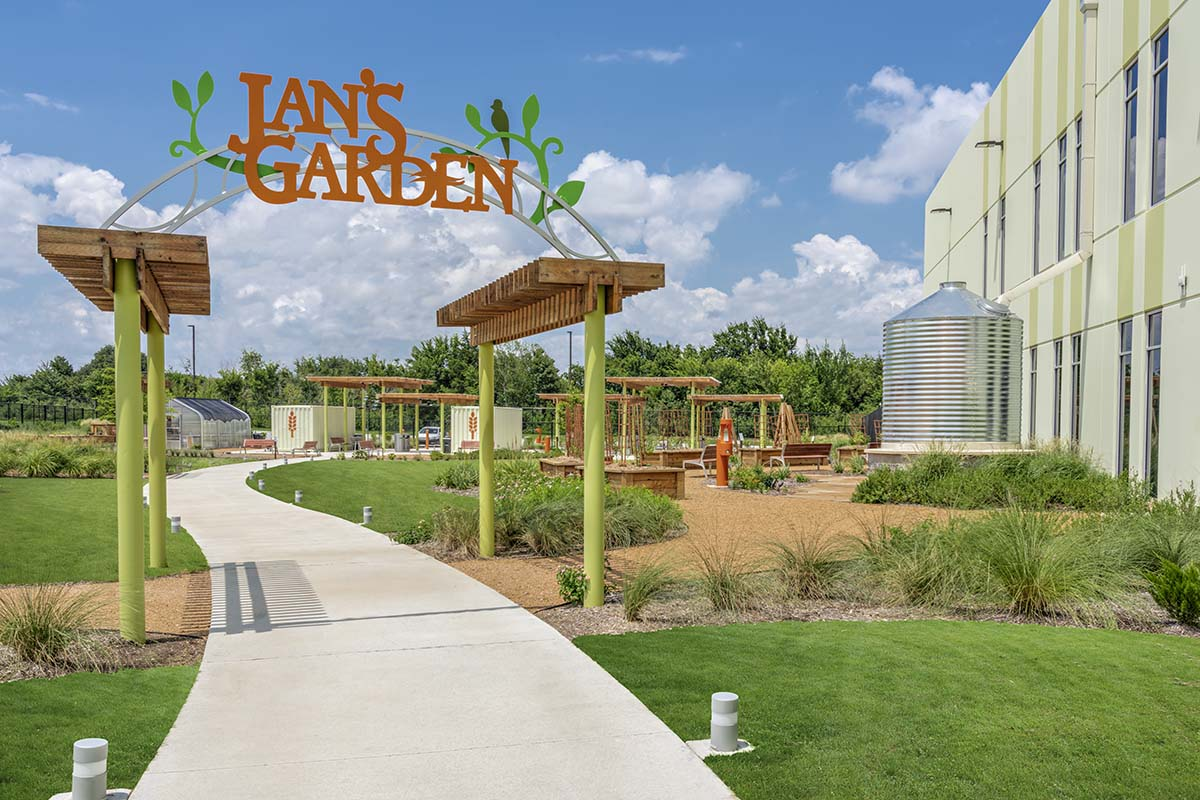 North Texas Food Bank Garden Entrance